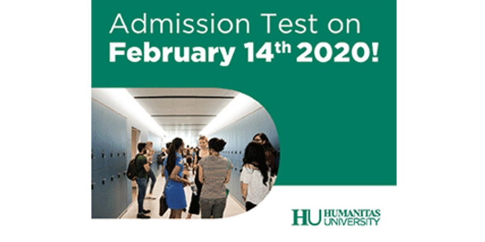 Humanitas University - HUMAT Test Open Now! Admission Test Date: 14 February 2020