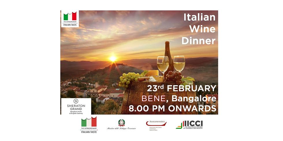 True Italian Taste - Italian Wine Dinner - 23rd February