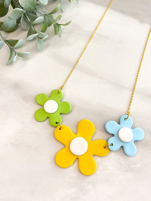 Flower necklace - Yellow