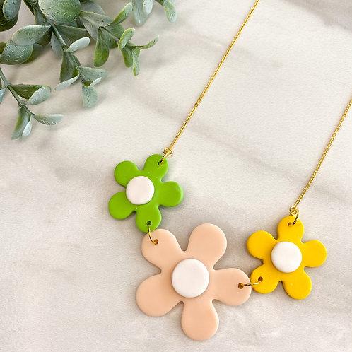 Flower Necklace - Pink