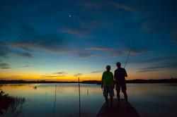 Evening sunset over the lagoon