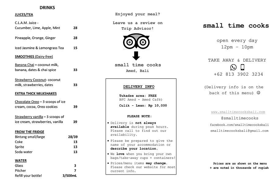 STC menu page 1