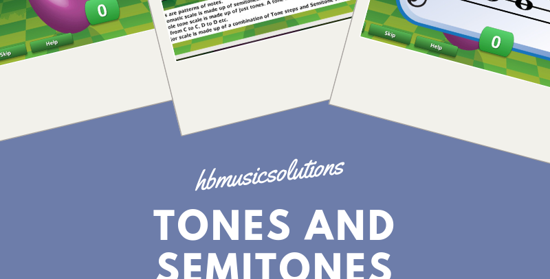 Tones And Semitones Interactive Module