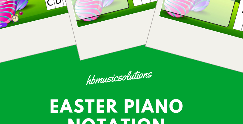 Easter Piano Notation Interactive Games (Treble Clef)