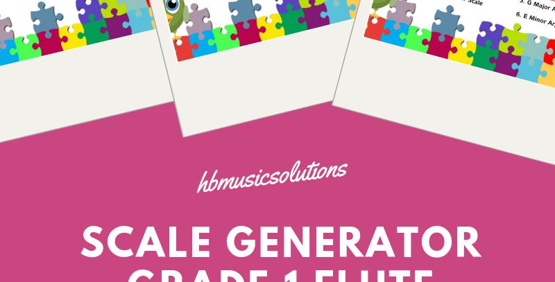 Scales Generator Grade 1 Flute