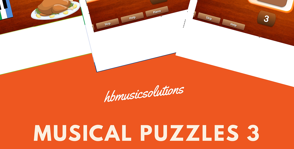 Musical Puzzle 3 Treble and Bass Clef Interactive Modules and Worksheets