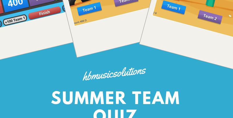 Summer Team Quiz