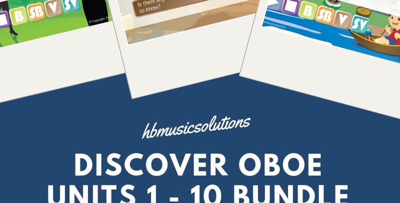 Discover Oboe Units 1 - 10 Bundle + Technique