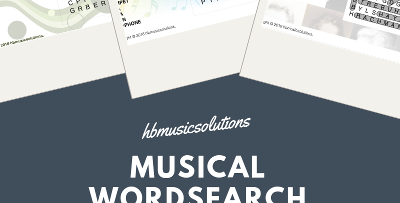 Musical Wordsearch Bundle