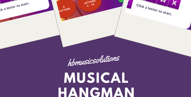Musical Hangman Instruments Interactive Game