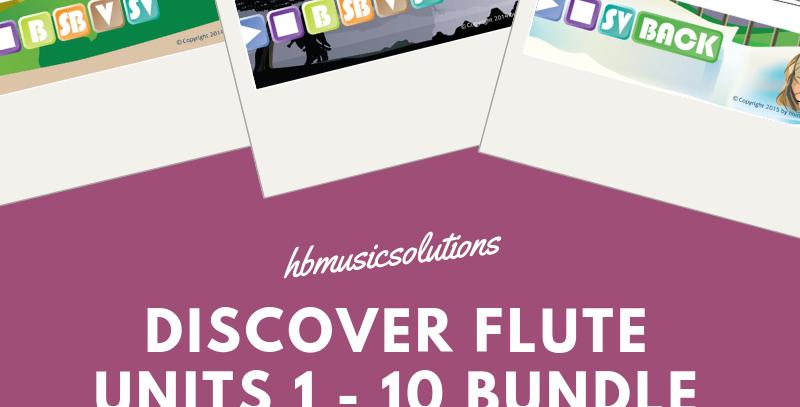 Discover Flute Units 1 - 10 Bundle