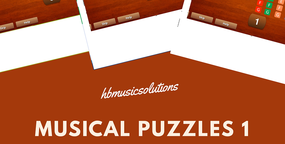 Musical Puzzle 1 Treble and Bass Clef Interactive Modules and Worksheets