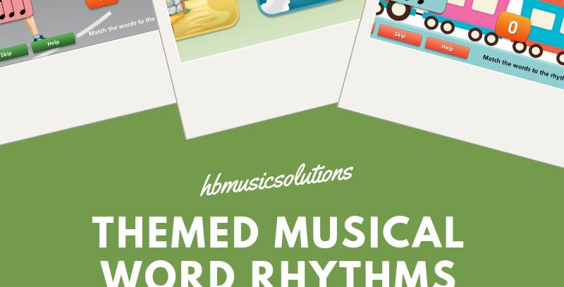 Themed Music Word Rhythms