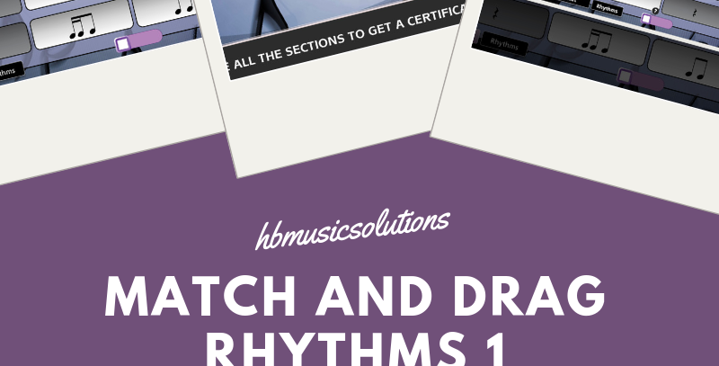 Match And Drag Music Rhythm 1 Interactive Activity