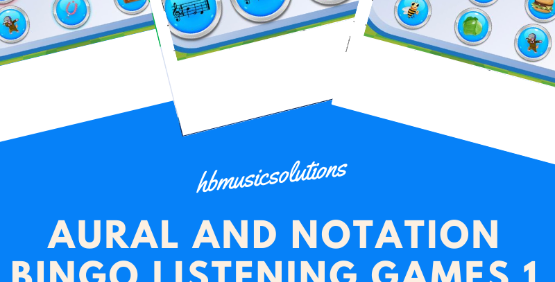 Aural and Notation Bingo Listening Games 1
