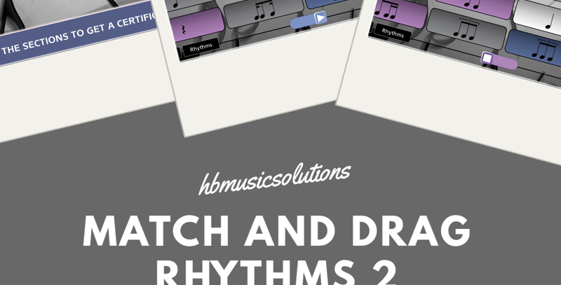 Match And Drag Music Rhythm 2 Interactive Activity