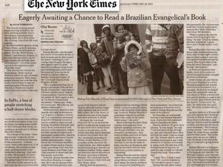 El lanzamiento de nada que perder en SoHo, Nueva York, es la noticia destacada en el periódico New Y