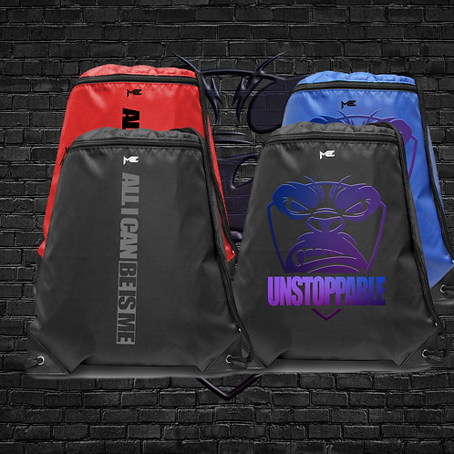 ME Wear Bags Zipper Drawstring Backpack