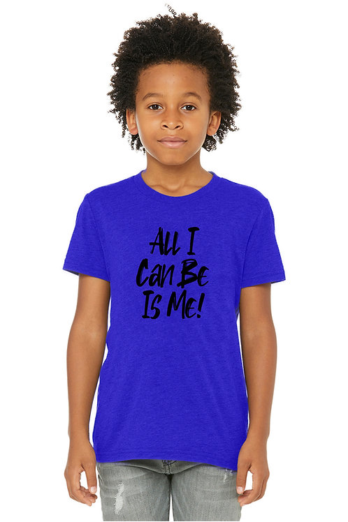Youth All I Can Be Is Me Black Tshirt