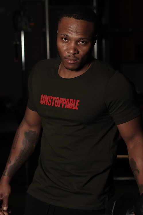UNSTOPPABLE MENS JERSEY SHORT SLEEVE TEE WITH SPLIT HEM