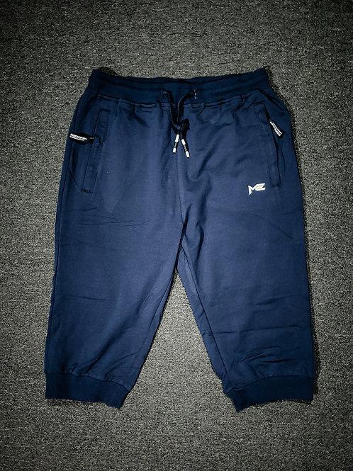Men's Cotton Casual Shorts 3/4 Jogger Capri Pants Breathable Below Knee Short