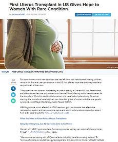アメリカ初の子宮移植ニュース