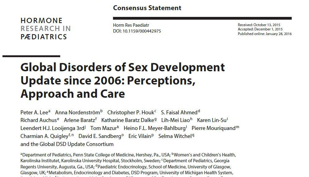 性分化疾患医療コンセンサスステートメント