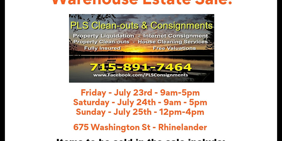 Warehouse Estate Sale
