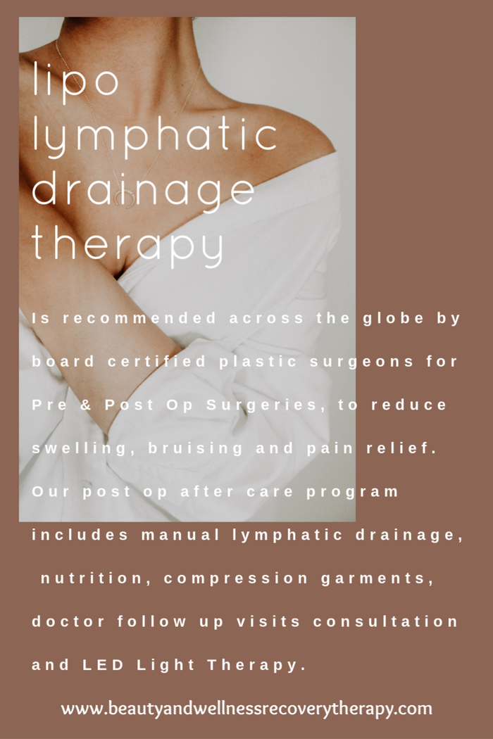 Yes, You Need Pre & Post Op Lipo-Lymphatic Drainage Therapy !