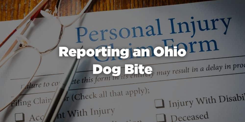 Reporting an Ohio Dog Bite