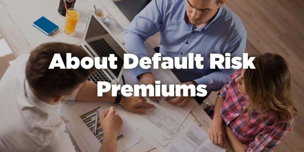 About default risk premiums