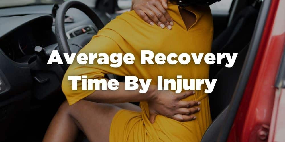 Average recovery time by injury