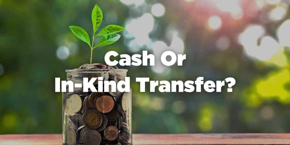 Cash or in-kind transfer
