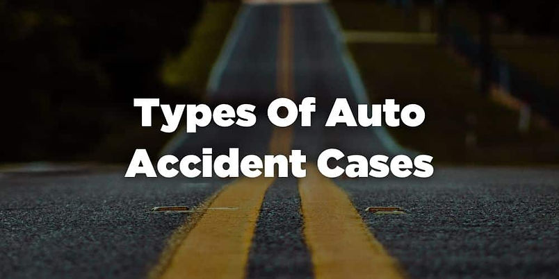 Types of Vehicle Accident Cases