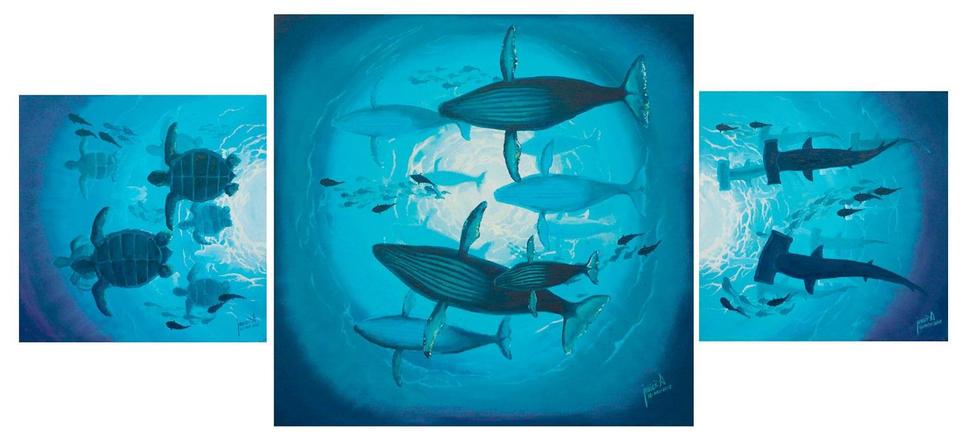 Oceanos 1 (Oceans 1) Triptych