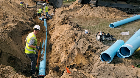 a utilities pipeline being placed captured by our CEI inspector on site in Sebring, Florida. Survey was performed previously.