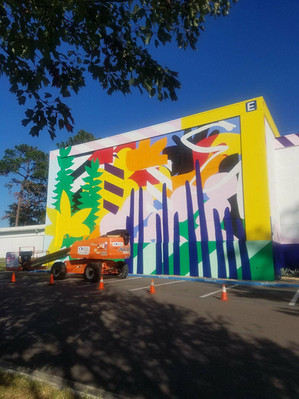 Maser Creates 352walls/Gainesville Urban Art Initiative Mural on Sante Fe College Campus