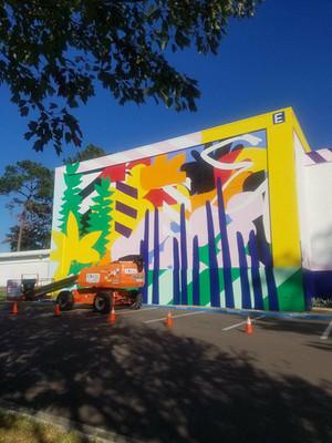 Maser Creates 352walls/Gainesville Urban Art Initiative Mural on Sante Fe College Campus
