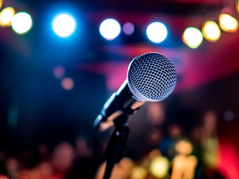 microphone-on-stage-against-a-background