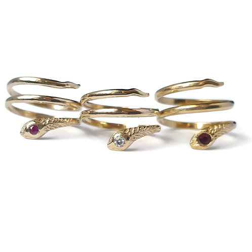 CUSTOM Three Coil Snake Ring