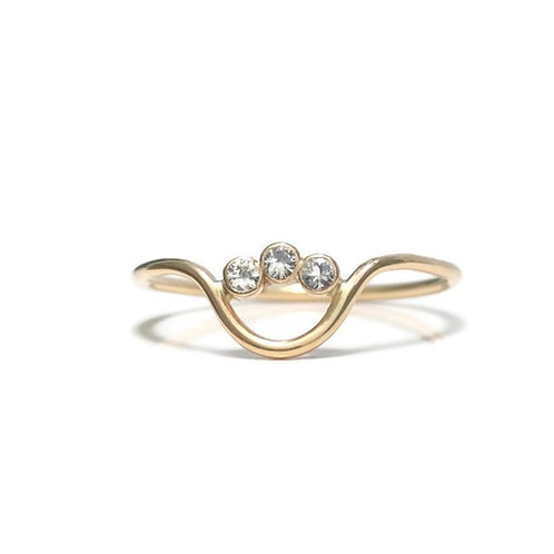 Curved Stone Ring