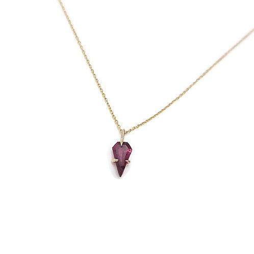 Garnet Shield Necklace