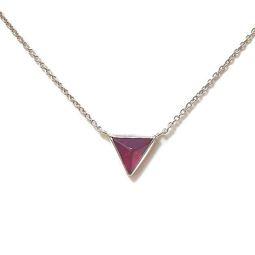 Garnet Triangle Necklace