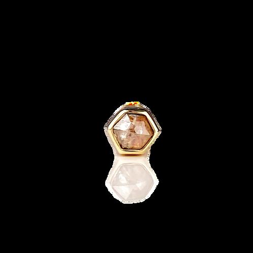 Hexagon Diamond Cartilage Stud