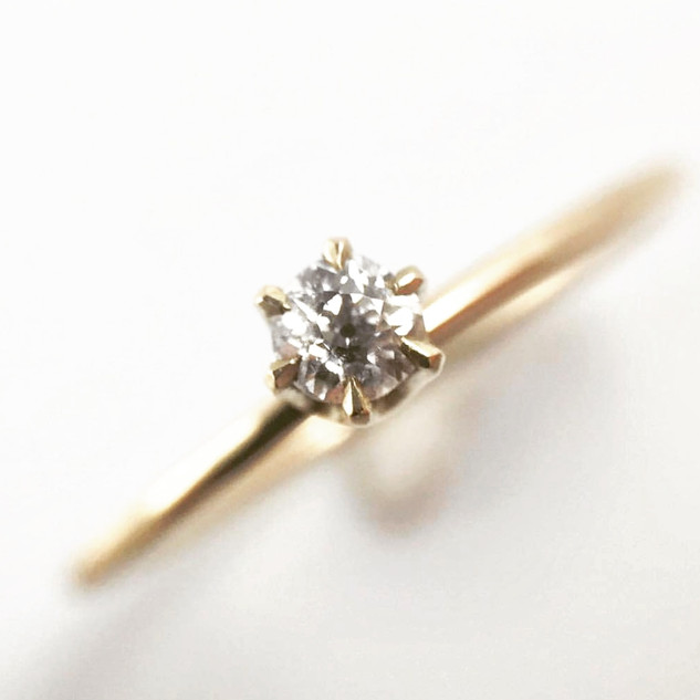 Old mine cut stacking ring
