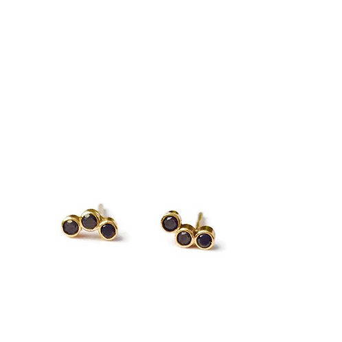 Black Diamond Curved Studs