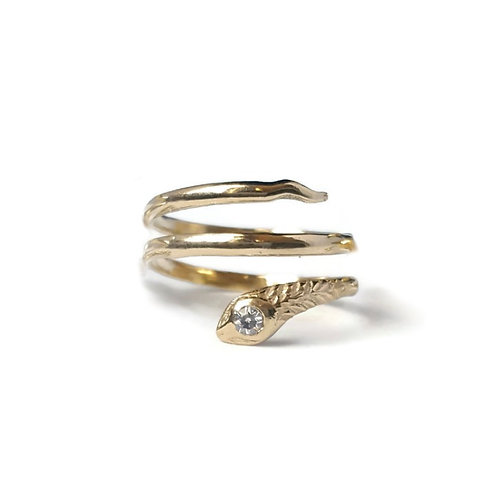 Three Coil Snake Ring