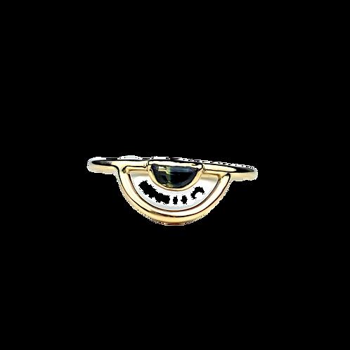 Sapphire Crescent Ring