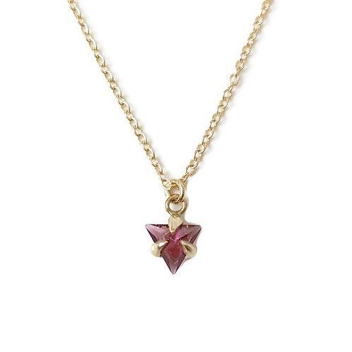 Garnet Triangle Necklace