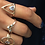 Thumbnail: Crescent Stone Ring